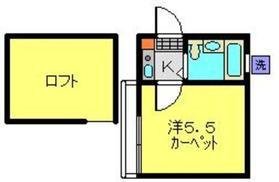 ハイム神奈川2階Fの間取り画像