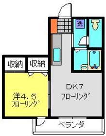 ルート16セイワ3階Fの間取り画像