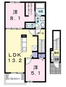 エトワール2階Fの間取り画像
