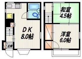 西新井本町一丁目戸建1-2階Fの間取り画像