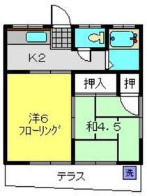 本田ハイツ1階Fの間取り画像