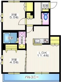 Maison Meewa1階Fの間取り画像