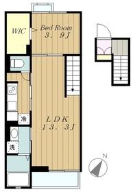 ラヴィダフェリス4階Fの間取り画像