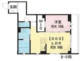 グルナディエ2階Fの間取り画像