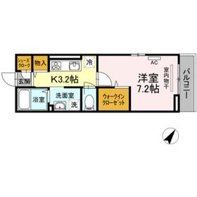 町田駅 徒歩7分2階Fの間取り画像