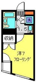 元住吉駅 徒歩21分4階Fの間取り画像