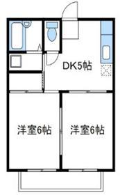 ハウスオブベア2階Fの間取り画像