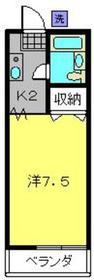 三ッ沢上町駅 徒歩26分1階Fの間取り画像