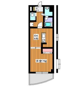 メゾンドソレイユ2階Fの間取り画像