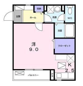 フルールさちⅡ1階Fの間取り画像