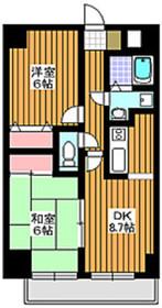 東武練馬駅 徒歩17分8階Fの間取り画像