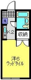 メゾンサザン日吉1階Fの間取り画像