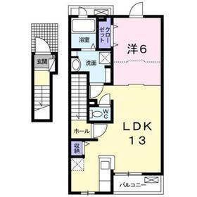 日野駅 徒歩12分2階Fの間取り画像