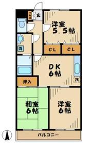フィフスフロンティア6階Fの間取り画像