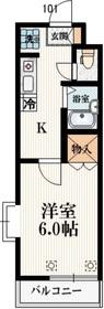 シーダン・ヒル1階Fの間取り画像