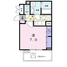 グラン ジェルメ1階Fの間取り画像