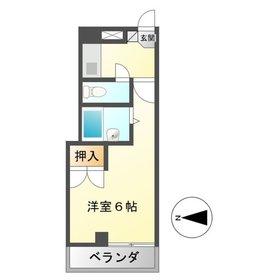 平岡マンション3階Fの間取り画像