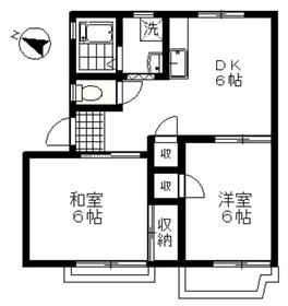 斉藤コーポ2階Fの間取り画像