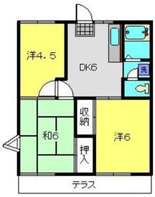 ベルゾーネ志村2階Fの間取り画像