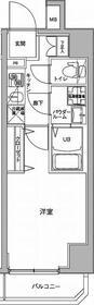 ジェノヴィア川崎駅グリーンヴェール10階Fの間取り画像