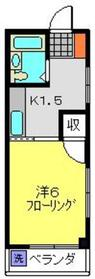 ベルメゾン1階Fの間取り画像