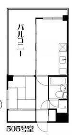 リーヴェルステージ横浜Neo5階Fの間取り画像
