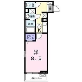 八王子駅 徒歩11分1階Fの間取り画像