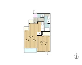 アトリウム3階Fの間取り画像