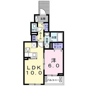 ブランシュネージュ1階Fの間取り画像