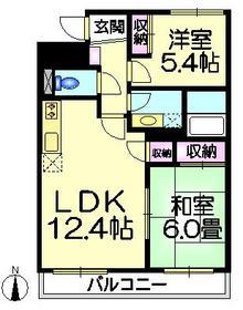 都民住宅パークサイド加賀1階Fの間取り画像