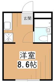 山本レジデンスB2階Fの間取り画像