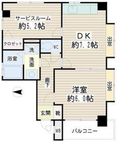 Rhombic Residence5階Fの間取り画像