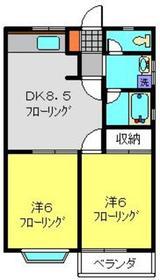 ドミールレオン2階Fの間取り画像