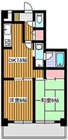 成増駅 徒歩6分5階Fの間取り画像
