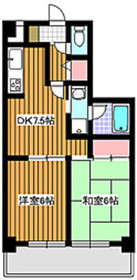 地下鉄成増駅 徒歩2分5階Fの間取り画像