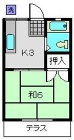 幸美ハイツ1階Fの間取り画像