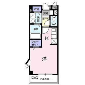 ソレイユパレ1階Fの間取り画像