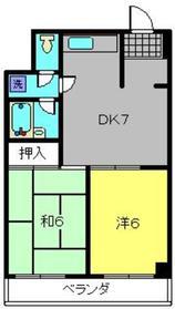 カサクレール磯子3階Fの間取り画像