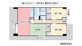 ハイツ千里台Ⅱ7階Fの間取り画像