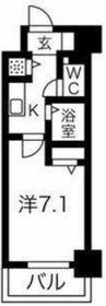 スパージオ横浜反町8階Fの間取り画像