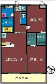 ドルチェ・アンナA2階Fの間取り画像