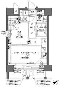 横浜駅 徒歩10分2階Fの間取り画像