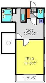 ボネールB2階Fの間取り画像
