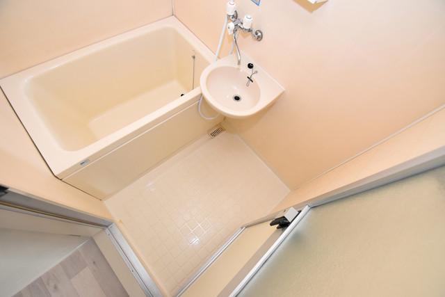 マーキュリーハイム飛田 ちょうどいいサイズのお風呂です。お掃除も楽にできますよ。