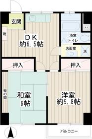新丸子駅 徒歩7分6階Fの間取り画像