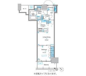 パークアクシス豊洲キャナル10階Fの間取り画像