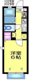 ヴィクトワールⅡ1階Fの間取り画像
