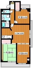 MARUNI BLDG2階Fの間取り画像
