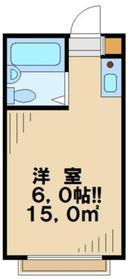 サンライズ桜ヶ丘1階Fの間取り画像