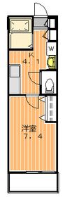プログレス三軒茶屋1階Fの間取り画像